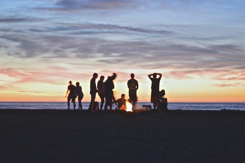 夕方 焚き火